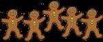 5 Gingerbread Counters John Duffield