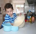 5 Joey pours out cake mix Bev Dunbar Maths Matters