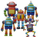 5 robots Bev Dunbar Maths Matters