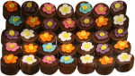 5 x 7 Flowerpot Chocolates $5.95 each Bev Dunbar Maths Matters