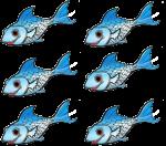 6 blue fish John Duffield