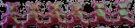 6 pink shiny Teddies for Array Bev Dunbar Maths Matters