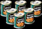 6 tins Baked Beans John Duffield