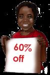 60 Percent Discount Sign John Duffield duffield-design