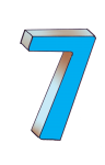 7-3d number seven Blue - John Duffield duffield-design