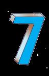 7-3d number seven Blue - John Duffield duffield-design