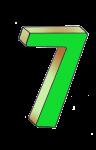 7-3d number seven Green - John Duffield duffield-design