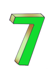 7-3d number seven Green - John Duffield duffield-design