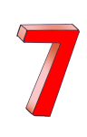 7-3d number seven Red - John Duffield duffield-design