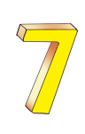 7-3d number seven Yellow - John Duffield duffield-design