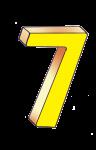 7-3d number seven Yellow - John Duffield duffield-design
