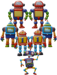 7 robots Bev Dunbar Maths Matters