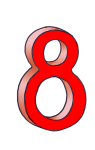 8-3d number eight Red - John Duffield duffield-design