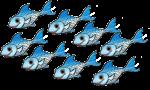 8 blue fish John Duffield