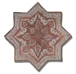 8 pointed star tile Iran 13th century The Met NY