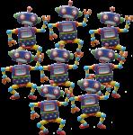 8 robots bev Dunbar Maths Matters