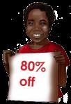 80 Percent Discount Sign John Duffield duffield-design