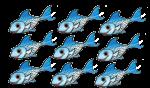 9 blue fish John Duffield