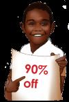 90 Percent Discount Sign John Duffield duffield-design