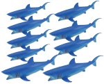 Add & Subtract 9 Blue Sharks Bev Dunbar Maths Matters