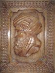 Al Khorezme wooden portrait Khiva Uzbekistan Bev Dunbar Maths Matters