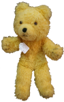 Antique Yellow Teddy Bear $28 Bev Dunbar Maths Matters