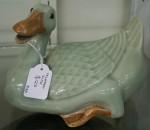 Antique celadon Duck $128 Bev Dunbar Maths Matters
