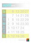 April Calendar - John Duffield duffield-design