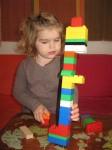 Artemis builds a DUPLO tower Bev Dunbar Maths Matters
