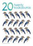 20 kookaburras Poster John Duffield duffield-design