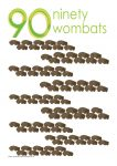90 wombats Poster John Duffield duffield-design