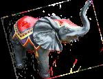 Baby-elephant-model-at-Show-Bev-Dunbar-Maths-Matters
