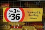 Bags of firewood 3 for $36 - Bev Dunbar Maths Matters