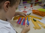Bailey puts legs on his caterpillar Bev Dunbar Maths Matters