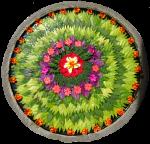 Bali circular flower arrangement Bev Dunbar Maths Matters