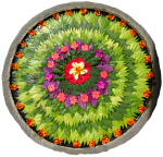 Bali circular flower arrangement Bev Dunbar Maths Matters