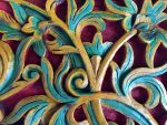 Bali wooden carved asymmetrical design Bev Dunbar Maths Matters