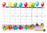 Balloon calendar - Blank - John Duffield duffield-design