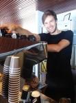 Barista James makes coffee Bev Dunbar Maths Matters