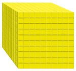 1000s unit - Base Ten Cube yellow - place value