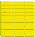 100s unit - Base Ten Flat yellow - place value