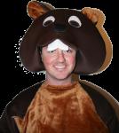 Beaver Marley - dressup - party Bev Dunbar Maths Matters