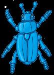Beetle - Blue - John Duffield duffield-design