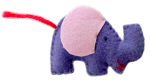 Bev Dunbar Maths Matters Isolated Felt Elephant