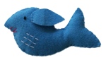 Isolated Felt Whale Bev Dunbar Maths Matters