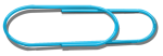 Big Paper Clip - Blue - John Duffield duffield-design