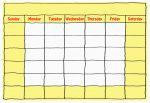 Blank Yellow Calendar Grid - John Duffield duffield-design