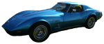 Blue Corvette Stingray Car Bev Dunbar Maths Matters