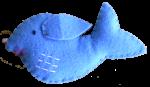 Blue Felt Whale Bev Dunbar Maths Matters
