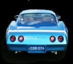 Blue vintage car - Back - Bev Dunbar Maths Matters
